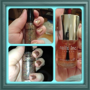 Nailtini Millionaire and Nails Inc. Caviar Topcoat