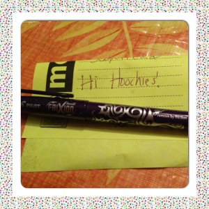 First freebie- FriXion Pilot Pen. And I love my fellow Product Hoochies!