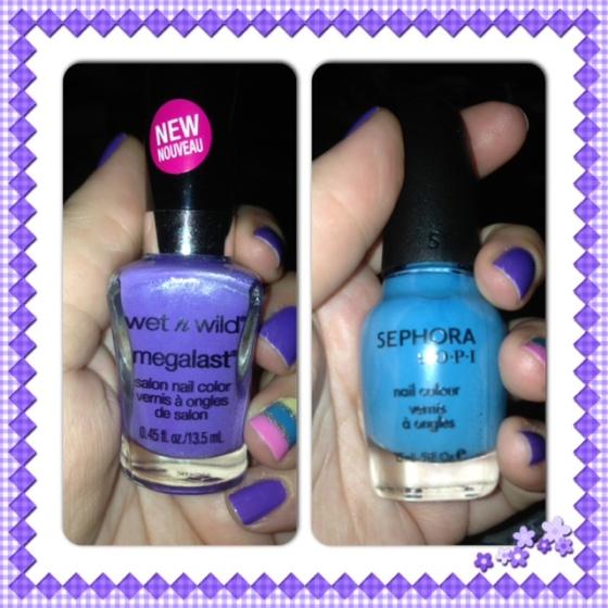 Purple & Blue!