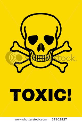 toxic sign and skulls - photo #7