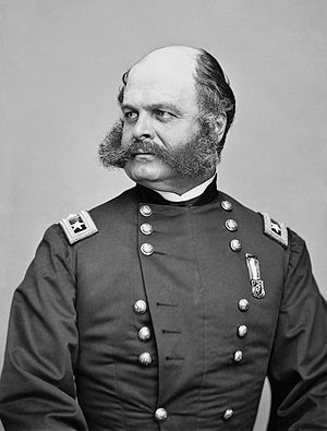 Portrait of Maj. Gen. Ambrose E. Burnside  (Photo credit: Wikipedia)