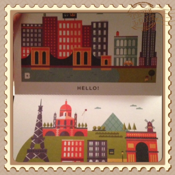 I'm partial to this set- my home and my favorite city.