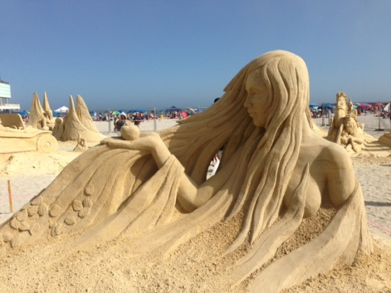 An entry in the annual Sand Sculpting Competition- Atlantic City, NJ.