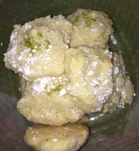 These are the lemon/lime cookies. The cookies were the best thing I tried this week.