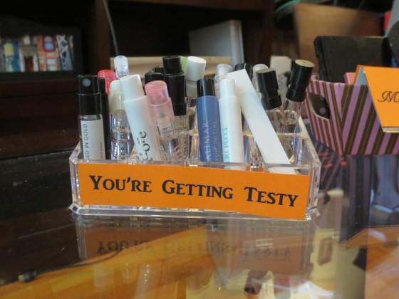 Getting Testy Perfume Sample Station