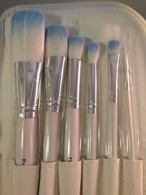 From left: Pro Powder, Tapered Brush, Deluxe Contour, Crease Blender, Chisel Shadow, Detail Liner