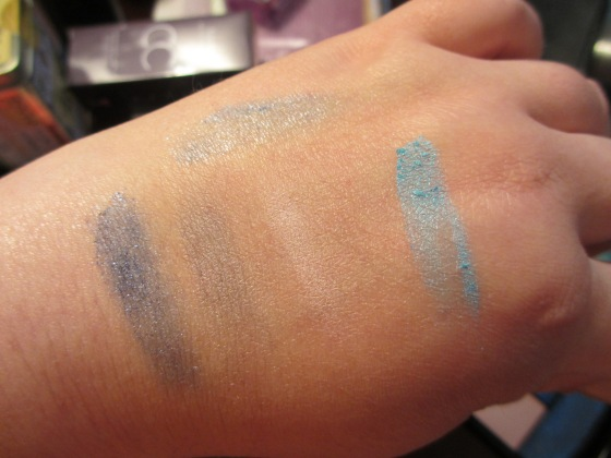 Swatches! From left: Another World, More Than This, Gotta Be You, Save You Tonight Center: Up All Night